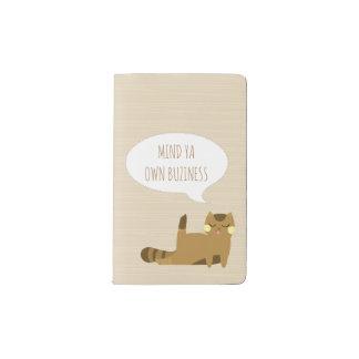 Cat with attitude pocket moleskine notebook