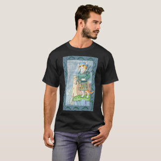 cat with bag pipes T-Shirt
