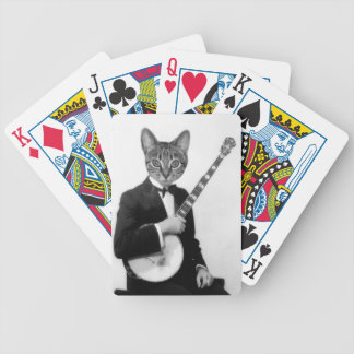 Cat with Banjo Bicycle Playing Cards