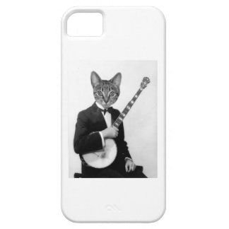 Cat with Banjo iPhone 5 Case