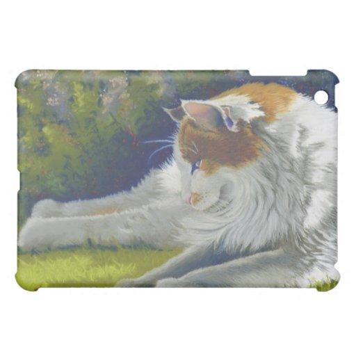 cat with bug iPad mini cover