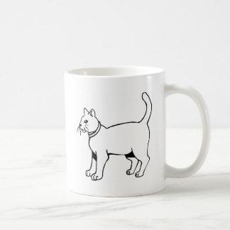 Cat with collar mug