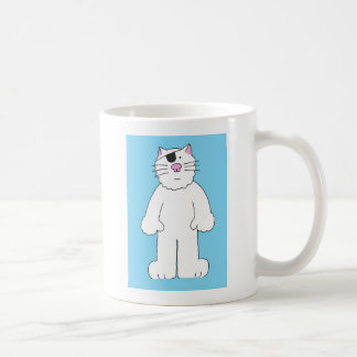 Cat with eye patch on, get well soon, eye surgery. coffee mug