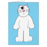 Cat with eye patch on, get well soon, eye surgery. greeting card