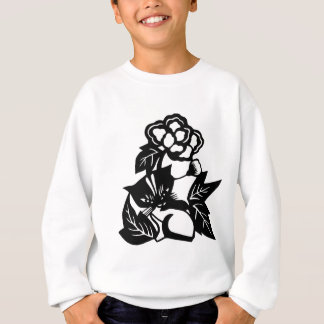 Cat with Flowers Sweatshirt