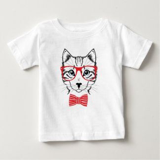 cat with glasses baby T-Shirt