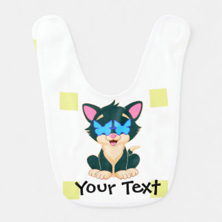cat with glasses customizer bib