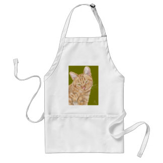 Cat with green eyes standard apron