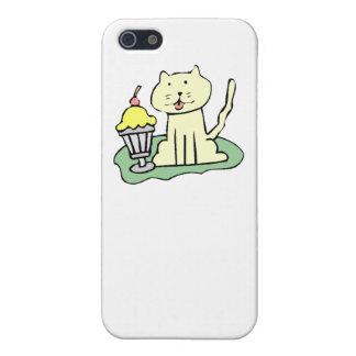Cat With Ice Cream Case For iPhone 5/5S