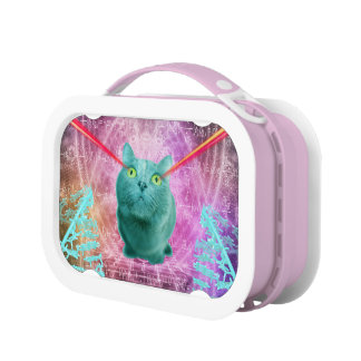 Cat with laser eyes lunch box