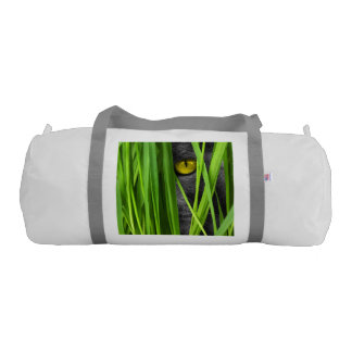 Cat with Leaf and Special Eyes Gym Duffel Bag