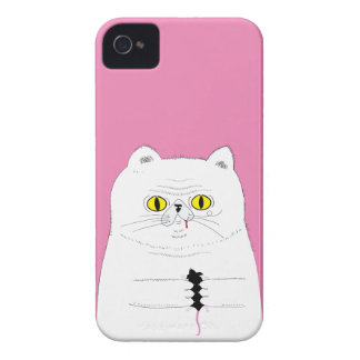 Cat With Mouse Funny Drawing Case-Mate iPhone 4 Case