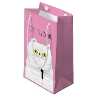 Cat With Mouse Funny Drawing Gift Bag