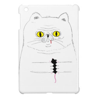 Cat With Mouse Funny Drawing iPad Mini Case