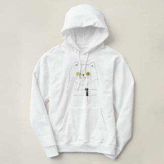 Cat With Mouse Funny Graphic Hoodie