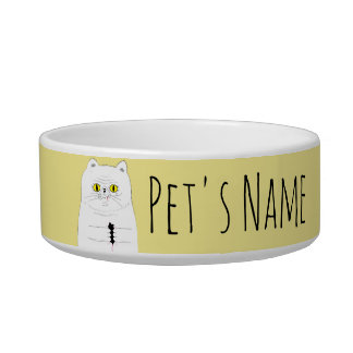 Cat With Mouse Pet's Name Food Bowl