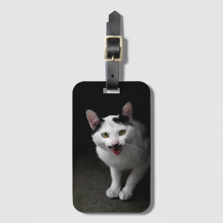 Cat with Mustache Luggage Tag