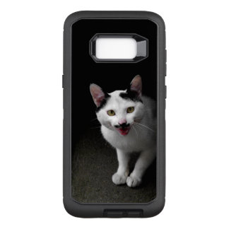 Cat with Mustache OtterBox Defender Samsung Galaxy S8+ Case