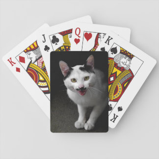 Cat with Mustache Playing Cards