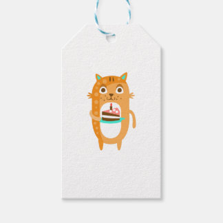 Cat With Party Attributes Girly Stylized Funky Sti Gift Tags