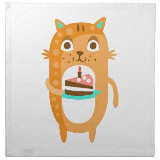 Cat With Party Attributes Girly Stylized Funky Sti Napkin