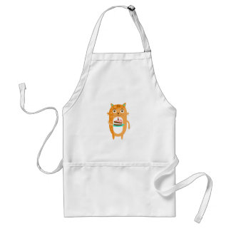 Cat With Party Attributes Girly Stylized Funky Sti Standard Apron