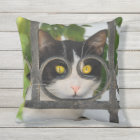 Cat with Spectacles Frame Funny - for Outside Outdoor Cushion