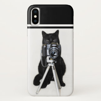 Cat with the camera iPhone x case