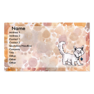 Cat with Toy Mouse Business Card