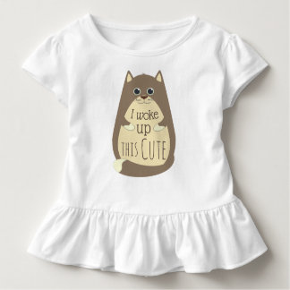 Cat Woke up This Cute Funny Slogan Toddler T-Shirt