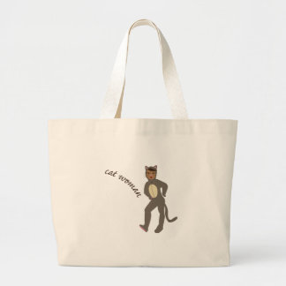 Cat Woman Large Tote Bag