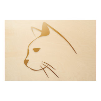 Cat Wood Wall Art