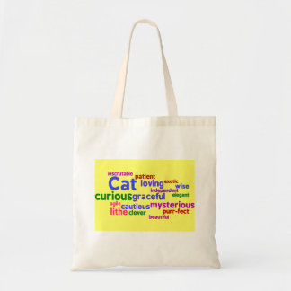 Cat Word Cloud Small Tote Canvas Bags