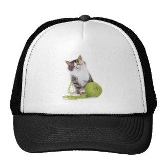 Cat_yarn Trucker Hats