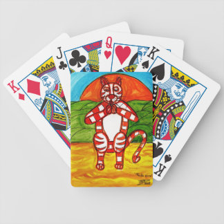 Cat Yoga Bicycle Playing Cards