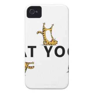 cat yoga iPhone 4 Case-Mate case