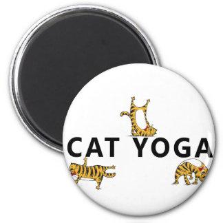 cat yoga magnet