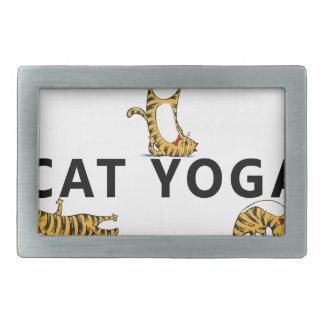 cat yoga rectangular belt buckles