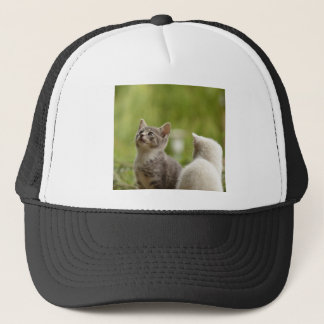 Cat Young Animal Curious Wildcat Animal Nature Trucker Hat