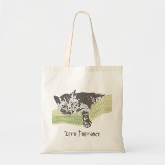 Cat Zero Tolerance Tote Bag