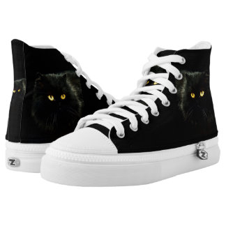 Cat Zipz High Top Sneakers, Prited Shoes Printed Printed Shoes