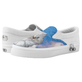 Cat ZIPZ Slip On Sneakers, Printed Shoes