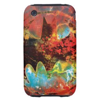 Cataclysmic Bat Logo Tough iPhone 3 Cases