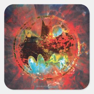 Cataclysmic Bat Logo Square Sticker