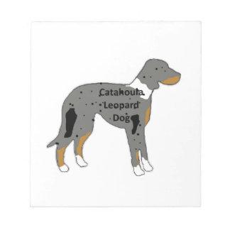 catahoula leopard dog name silo color notepad