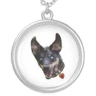 Catahoula Pawprint Dog Heart Pendants
