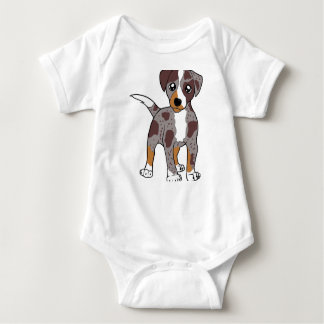 catahoula red cartoon baby bodysuit