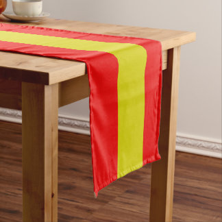 Catalan flag short table runner