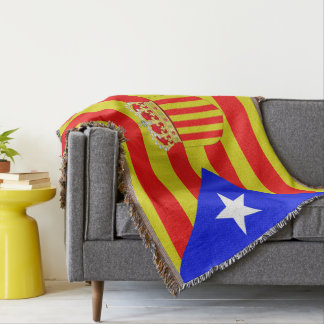 Catalan flag throw blanket