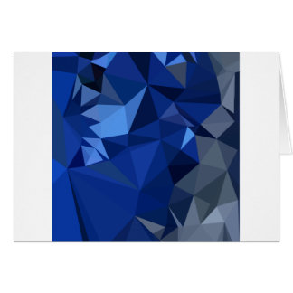 Catalina Blue Abstract Low Polygon Background Card